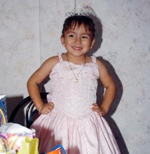 La pequeña Diana Sofía García Zapata recibió un gran número de felicitaciones por sus tres años de vida.