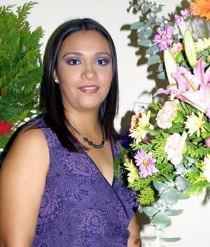 Gabriela Román Echevarría el día de su despedida de soltera.