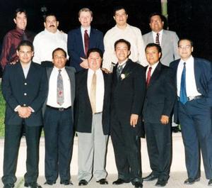 Efraín, Oliverio, Fernando, Felipe, Enrique, Gerardo, Daniel, Fernando y Francisco.
