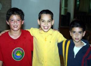 Bernardo Carrera Luévanos, Roberto Soto y Julio Pérez Soto.