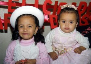 Karen Denisse y Karime Alemán Bruno cumplieron tres y un año de de vida respectivamente y lo festejaron con un alegre convivio.
