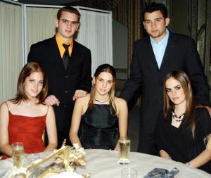 Alberto Domínguez, Alejandro Jiménez, María Teresa Jiménez, Abigail Calvete y Mónica Román Jiménez.