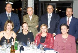 osé Luis Acuña y Silvia de Acuña; Guillermo Álvarez y Paula Herrera de Álvarez, Juan Gerardo Acuña y María Isavel de Acuña, José Luis Campos y Cristina de Campos.