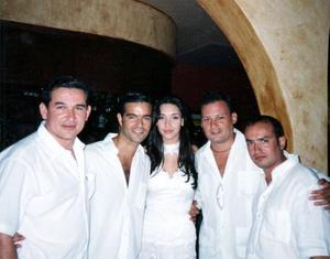 Alberto González, Pablo Montero, Amelia Vega, Rodolfo Haro y Carlos Soto.