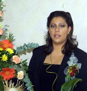 Lizbeth Griselda Ramírez Macías en el festejo pre nupcial que le ofrecieron Susana de Ramírez Macías y Eva de Macías.