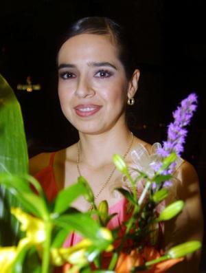 Jéssica Benítez Zambrano en la despedida de soltera que le ofrecieron recientemente.