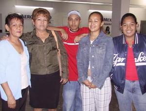 <u> 07 de noviembre </u> <p> Martha López, Karla Ramos  y Joanna López regresaron a Los Ángeles, Cal., luego de visitar a sus familiares, los despidieron Linda Ramos y Johnatan López.