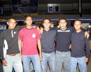 Jorge Omar Delgado, Jail Vázquez, Antonio Armendáriz, Ricardo Trujillo y Miguel Morteo.