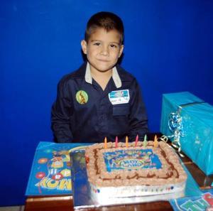 El pequeño Juan Manuel Borjón Alemán festejó en días pasados sus seis años de vida con una divertida fiesta.