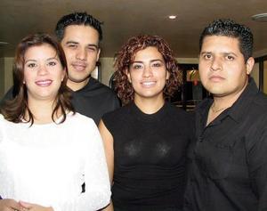 Betty García, Aníbal Guerrero, Cristy  Cerón y Juan Manuel Sánchez.
