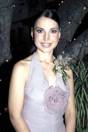 Brenda Patricia Arizpe Garza en su primera despedida de soltera.