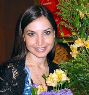 Brenda Arizpe Garza en su segunda despedida de soltera.