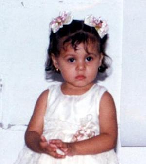 Karla Alejandra Sifuentes Ortiz Cumplió dos años de edad, hija de José Sifuentes y Martha Oralia Ortiz de Sifuentes.