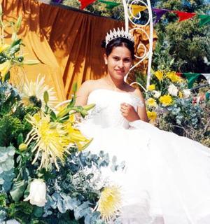 Analili Rodíguez Lozano fue coronada en el Ejido La Partida como reina de los festejos del 67 aniversario del Reparto Agrario.