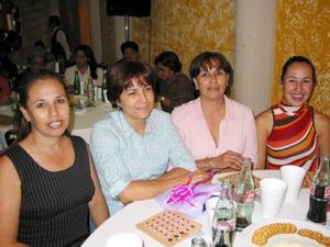 Karla Armendáriz, Sonia Velasco, Margarita Álvarez y Marú Velasco.