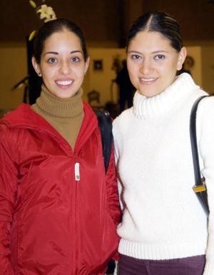 Alejandra Martínez y Daniela Valencia.