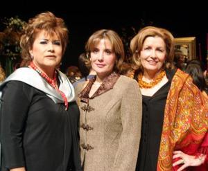 Delia Ríos Berlanga, Gaby de Ramos y Lety de Faya en pasado acontecimiento social.