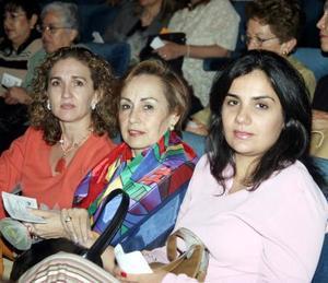 Gabriela Gurza de Santos, Goga Dingler de Soto y Lili Dingler de Papadópulos.