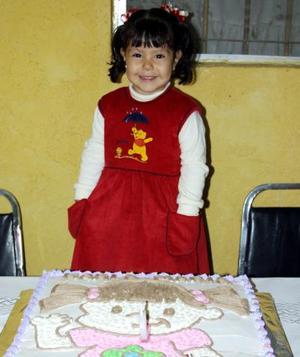 Karla María Saucedo Salazar en la fiesta de cumpleaños que se le organizó en días pasados por su segundo aniversario de vida.