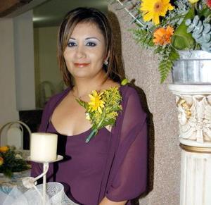 Belem Briones Morales el día de su despedida de soltera.