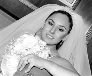 Srita. Brenda Esperanza González Franco el día de su enlace nupcial con el Sr. Eduardo Galindo Fierro.