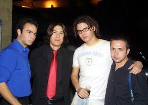 Javier García Hernández, Miguel Campos Nájera, Martín Nevárez Velázquez y Fer Grovas.