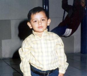 Diego Saúl García Arreola captado en reciente festejo social, es hijo de Raúl García Espinoza y Sandra Lorena Arreola.