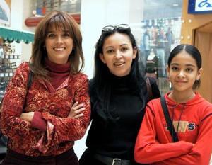 Iliana Medina, María de Lourdes Martínez y Lorena Amador Martínez.