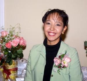 <u>02 de diciembre </u><p> Nancy Patricia Silva Rodríguez captada en la despedida de soltera que le ofrecieron por su cercano matrimonio.