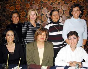 Alicia Duarte, Diana Rivera, Paty Urbina, Rosy Romero, Norma Garza, Lourdes Duarte y Tere Gómez.