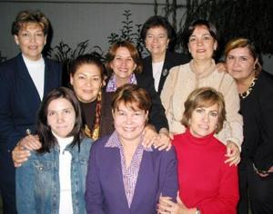 Integrantes del Club de Jardinería Violeta, captada en su pasada reunión de trabajo.