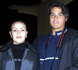 Katty Eguía y Alfonso Dávila captada en el Cerro de las Noas.
