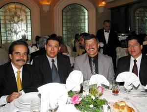 César del Bosque Garza, José Luna Riojas, Manuel Riveroll y Juan Pérez