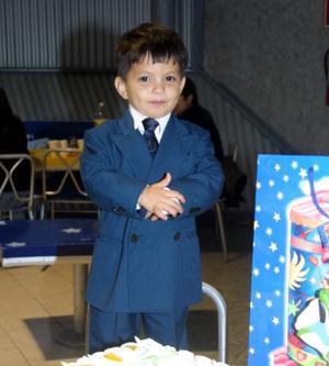 El pequeño Daniel Josafat Valdez Ledezma festejó su tercer cumpleaños.