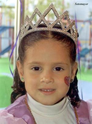 La niña Alexia González Urrea, en su fiesta de cumpleaños.