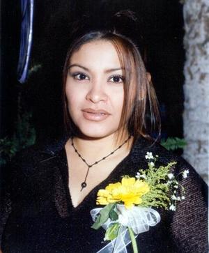 Marlene Cázares Muñoz el día de su primera despedida de soltera
