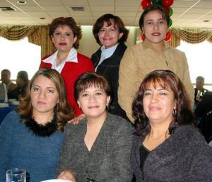 Lucero Tabares, Bertha Alicia Esparza, Adriana Martínez, Rosy Rangel, Ana María González y Drian Azpilcueta.