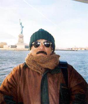 Armando Cepeda Machada en Nueva York, como resultado de un intercambio internacional.