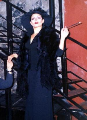 Lizeth Maciel durante una fiesta de disfraces.