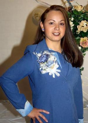 Gloria Graciela Insausti Rodríguez, captada en su despedida de soltera.