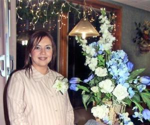 <u> 24 de diciembre </u> <p> Ana Lucía de Villalobos en su fiesta de canastilla.