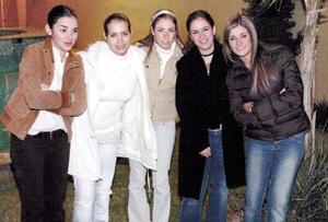 María Elvira Garza, Anabel Allegre, Celina Cepeda, María Angélica Amarante y Meni Villarreal.