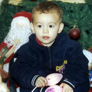 El pequeño Jesús Sebastián Rodríguez Arámbua captado en la fiesta que le prepararon cn motivo de su segundo cumpleaños.
