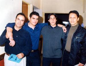 Martín Madirgal, Carlos Paredes, Franz Holguín y Raúl Valenzuela