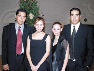 <u>03 de enero</u><p> Óscar Aguirre, Estefanía Hernández, Ximena Martínez y Carlos Aguirre.