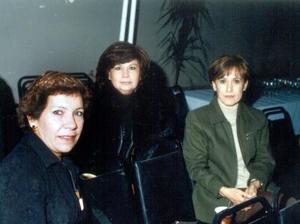 Patricia Aspland, Mercedes Villarreal y Rebeca Rodríguez captadas recientemente.