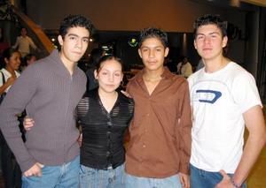Antonio Madirgal, Valeria Soriano, José Daniel Lozano y Héctor Cardona.