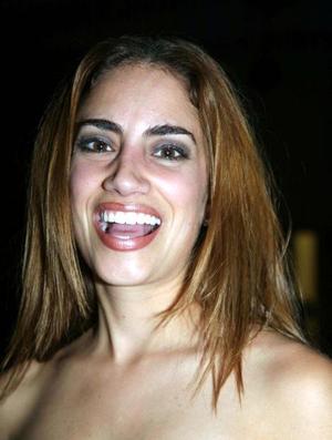 Karla Escotto en una fiesta de Año Nuevo.