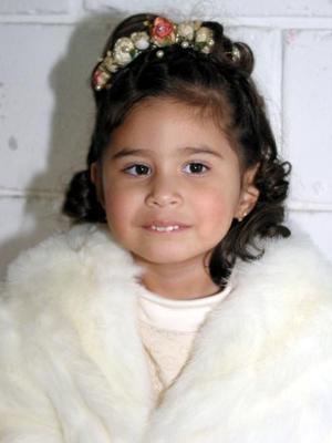 Gabriela de los Ángeles Coronado en su fiesta de tres años.