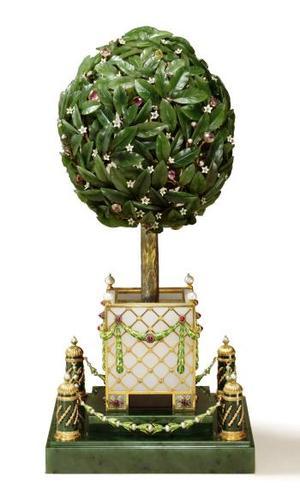 La colección que venderá Sotheby's ha estado expuesta en diferentes países desde la muerte de Malcom Forbes hace catorce años. <u> Imagen: El huevo del árbol de naranjo </u>